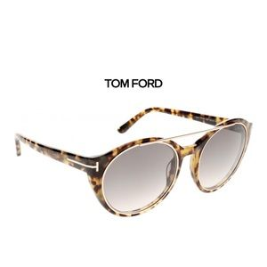 Tom Ford Round Joan TF 383 56B Womens Tortoise